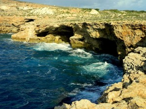 Il majjistral cliff in Malta