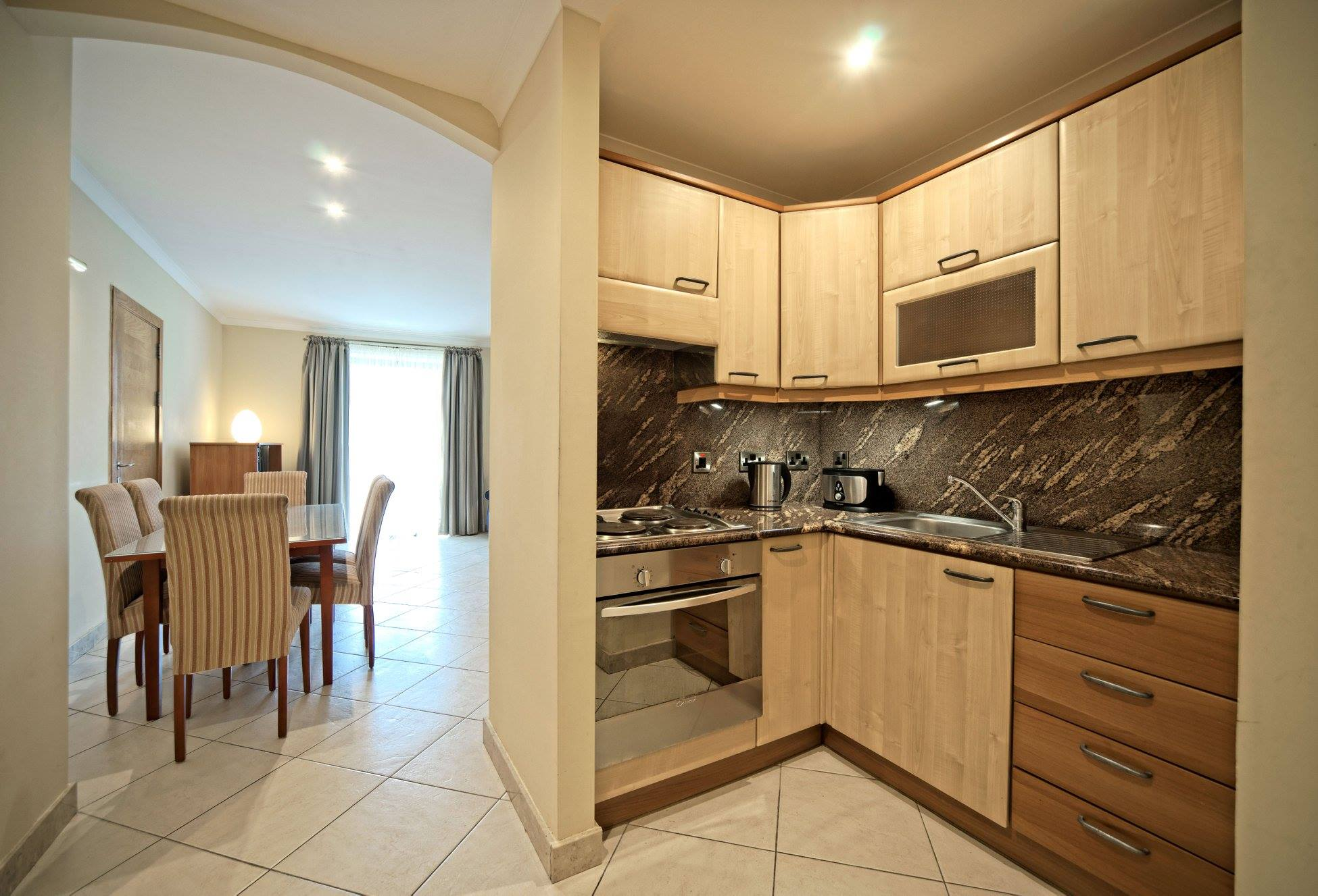Aparthotel Malta Self Catering Kitchen With Dinin Area